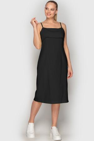 Летнее платье футляр черного цвета 762|интернет-магазин vvlen.com