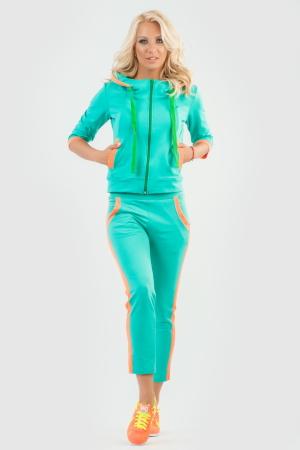 Спортивный костюм ментола цвета |интернет-магазин vvlen.com