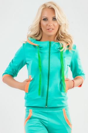Спортивная кофта ментола цвета|интернет-магазин vvlen.com