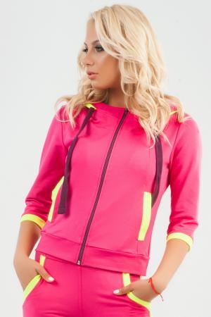 Спортивная кофта малинового цвета|интернет-магазин vvlen.com