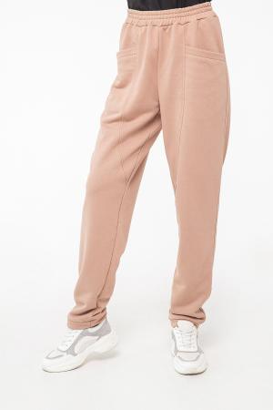 Спортивные брюки бежевого цвета 2957.137|интернет-магазин vvlen.com