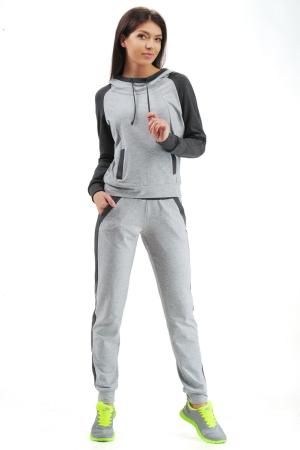 Спортивный костюм серого цвета 2305.79|интернет-магазин vvlen.com