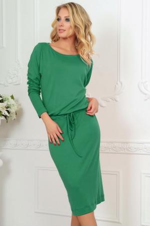 Повседневное платье футляр зеленого цвета|интернет-магазин vvlen.com
