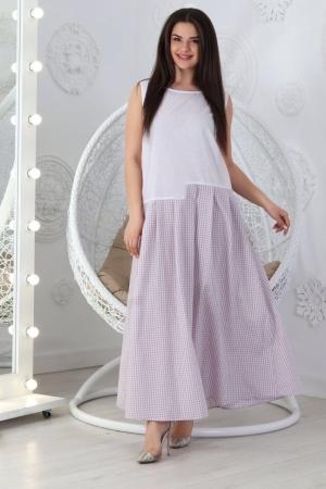 Летнее платье с пышной юбкой белого цвета 710|интернет-магазин vvlen.com