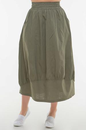 Юбка тюльпан хаки цвета|интернет-магазин vvlen.com