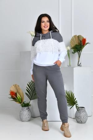 Прогулочный костюм серый цвета 765|интернет-магазин vvlen.com