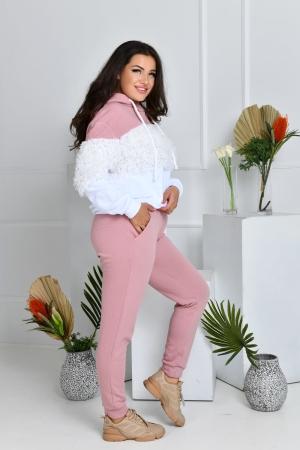 Прогулочный костюм пудру цвета 765|интернет-магазин vvlen.com