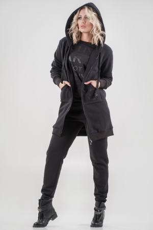 Кардиган стильный черного цвета 056|интернет-магазин vvlen.com
