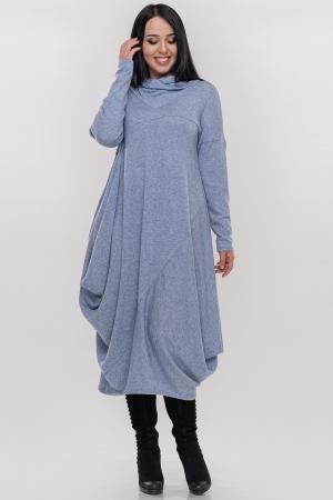 Платье оверсайз серо-голубого цвета 2856-1.119|интернет-магазин vvlen.com
