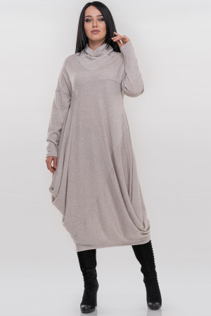 Платье оверсайз бежевого цвета 2856-1.119|интернет-магазин vvlen.com