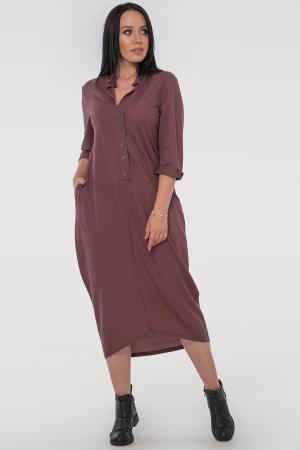 Повседневное платье  мешок капучино цвета|интернет-магазин vvlen.com