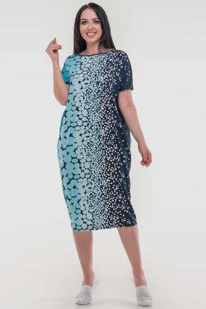 Летнее платье оверсайз синего тона цвета 2665-3.5|интернет-магазин vvlen.com
