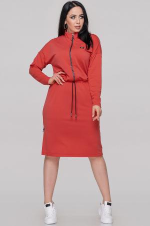 Спортивное платье  кораллового цвета 2888.79|интернет-магазин vvlen.com