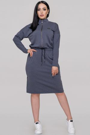 Спортивное платье  джинса цвета 2888.79|интернет-магазин vvlen.com