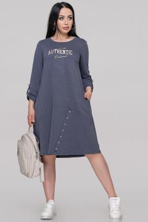 Спортивное платье  джинса цвета 2891-1.79|интернет-магазин vvlen.com