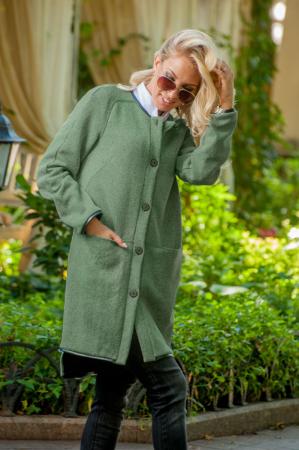 Кардиган стильный зеленого цвета 2398.28 интернет-магазин vvlen.com