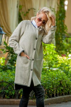 Кардиган стильный серого цвета 2398.28 интернет-магазин vvlen.com