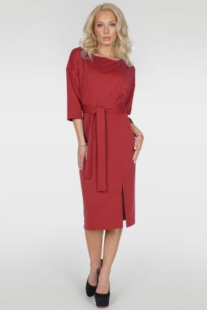 Коктейльное платье с расклешённой юбкой бордового цвета 55555|интернет-магазин vvlen.com