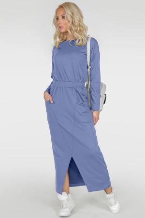 Спортивное платье  голубого цвета 2781.79 интернет-магазин vvlen.com