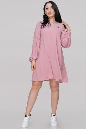 Коктейльное платье трапеция розового цвета|интернет-магазин vvlen.com