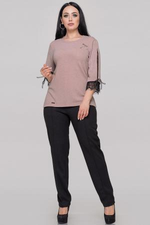 Блуза  пудры цвета 2895-1.99|интернет-магазин vvlen.com