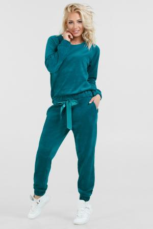 Домашний костюм бирюзового цвета 2474.26|интернет-магазин vvlen.com