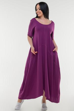 Летнее платье трапеция сиреневого цвета|интернет-магазин vvlen.com
