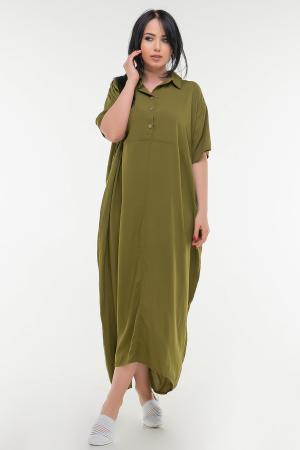 Летнее платье рубашка хаки цвета|интернет-магазин vvlen.com