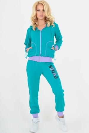Спортивный костюм мятного цвета 158-159|интернет-магазин vvlen.com