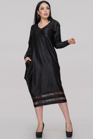 Платье балахон черного цвета |интернет-магазин vvlen.com