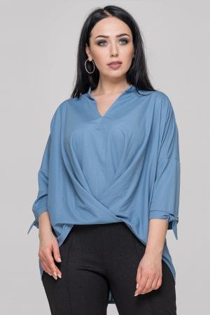 Блуза серо-голубого цвета|интернет-магазин vvlen.com