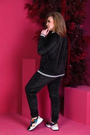 Прогулочный костюм черного цвета 757|интернет-магазин vvlen.com