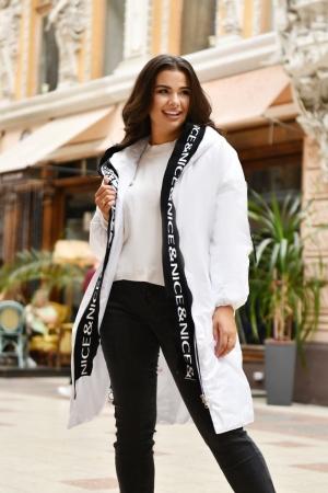 Куртка женская белого цвета 763|интернет-магазин vvlen.com