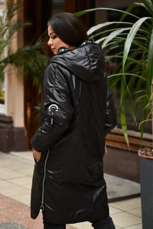 Куртка женская черного цвета 763|интернет-магазин vvlen.com