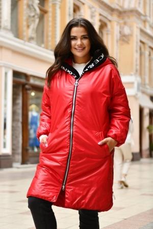 Куртка женская красного цвета 763|интернет-магазин vvlen.com
