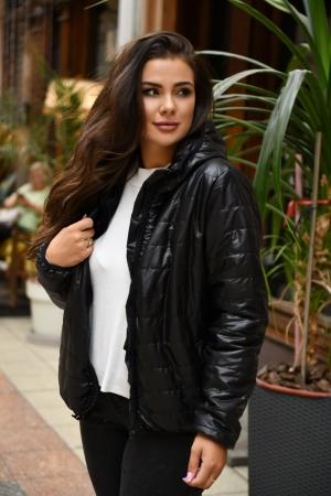 Куртка женская черного цвета 455|интернет-магазин vvlen.com
