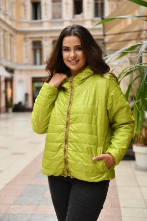 Куртка женская салатового цвета 455|интернет-магазин vvlen.com