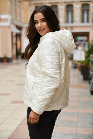 Куртка женская молочного цвета 455|интернет-магазин vvlen.com