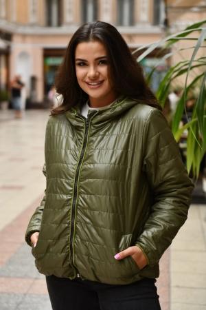 Куртка женская хаки цвета 455|интернет-магазин vvlen.com