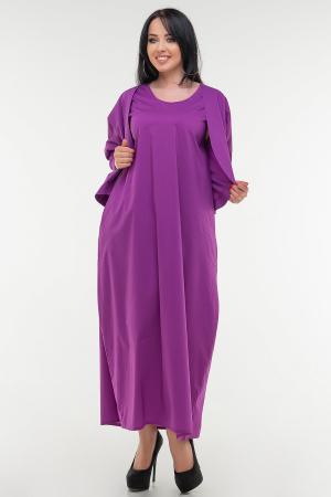 Летнее платье  мешок сиреневого цвета|интернет-магазин vvlen.com