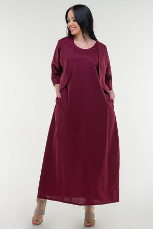 Летнее платье  мешок марсалы цвета|интернет-магазин vvlen.com