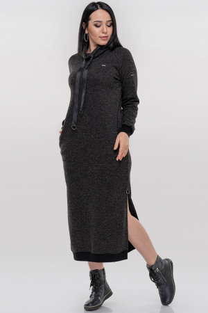 Спортивное платье  темно-серого цвета 2815.106|интернет-магазин vvlen.com