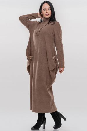 Платье оверсайз кофейного цвета 2863.92|интернет-магазин vvlen.com