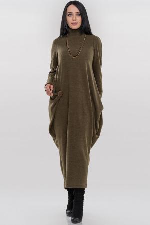Платье оверсайз хаки цвета 2863.92|интернет-магазин vvlen.com