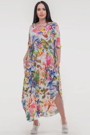 Летнее платье оверсайз розового тона цвета 2424-3.5|интернет-магазин vvlen.com