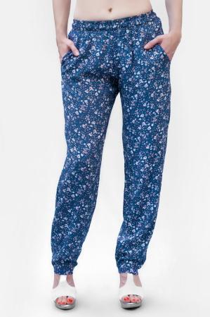 Брюки женские синего с розовым цвета 2371.84|интернет-магазин vvlen.com