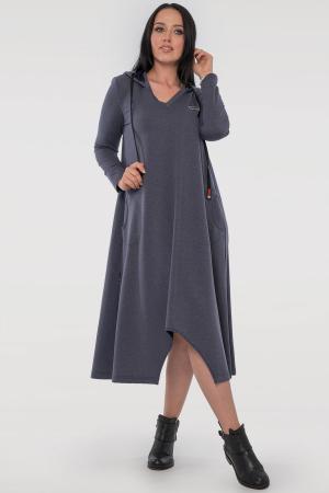 Спортивное платье  джинса цвета 2816.79|интернет-магазин vvlen.com