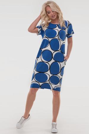 Летнее платье  мешок синего с белым цвета 2794-2.17|интернет-магазин vvlen.com