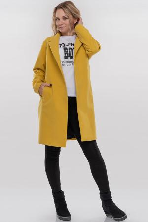 Пальто горчичного цвета|интернет-магазин vvlen.com