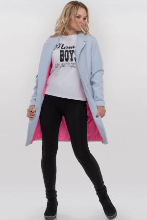 Пальто голубого цвета 094|интернет-магазин vvlen.com